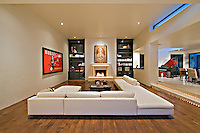 Beautiful Living room is seen in luxury home