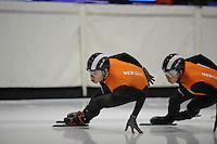 SCHAATSEN: HEERENVEEN: 31-01-2014, IJsstadion Thialf, Training Topsport, Sjinie Knegt, ©foto Martin de Jong