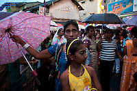 Waiting for the procession to begin..Final day of the St. Anthony's festival at Kochchikade, Colombo 13.