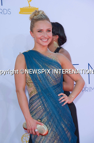 "HAYDEN PANETTIERE - 64TH PRIME TIME EMMY AWARDS.Nokia Theatre Live, Los Angelees_23/09/2012.Mandatory Credit Photo: ©Dias/NEWSPIX INTERNATIONAL..**ALL FEES PAYABLE TO: ""NEWSPIX INTERNATIONAL""**..IMMEDIATE CONFIRMATION OF USAGE REQUIRED:.Newspix International, 31 Chinnery Hill, Bishop's Stortford, ENGLAND CM23 3PS.Tel:+441279 324672  ; Fax: +441279656877.Mobile:  07775681153.e-mail: info@newspixinternational.co.uk"