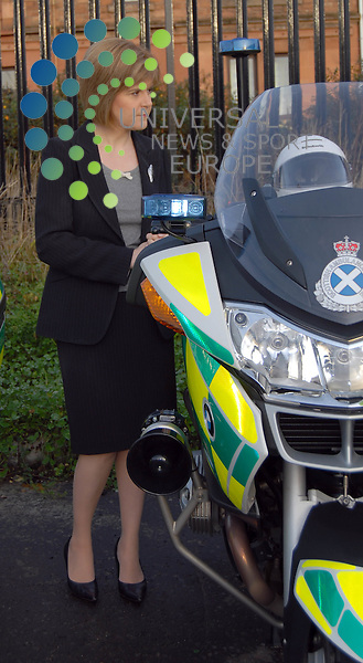 Health and Wellbeing Secretary Nicloa Sturgeon Formally opening the new ambulance station in Springburn,Glasgow18 November 2008. Pictures Jason Glencross: Universal News And Sport (Scotland)........ ........... .