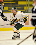 12 February 2011: University of Vermont Catamount defender Danielle Rancourt, a Freshman from Sudbury, Ontario, in action against the University of New Hampshire Wildcats at Gutterson Fieldhouse in Burlington, Vermont. The Lady Wildcats shut out the Lady Cats 2-0 to split their Hockey East twin game weekend series. Mandatory Credit: Ed Wolfstein Photo