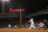 Johnny Damon. Baseball: 2004 World Series. St. Louis Cardinals vs Boston Red Sox. Boston, MA 10/23/2004 MANDATORY CREDIT: Brad Mangin/MLB Photos