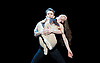 Anna Karenina Eifman Ballet at The London Coliseum, London, Great Britain press photocall 3rd April 2012 Music by Piotr Ilyitch Tchaikovsky Set design by Zinovy Margolin Costume design by Slava Okunev Lighting by Gleb Filshtinsky Maria Abashova (as Anna) Oleg Markov (as Karenin) Photograph by Elliott Franks