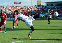 23 June 2011: New England Revolution forward Saer Sene #39 in action during an MLS game between the New England Revolution and the Toronto FC at BMO Field in Toronto..The game ended in a 2-2 draw.
