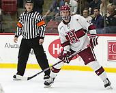 John Marino (Harvard - 12) - The Harvard University Crimson defeated the St. Lawrence University Saints 6-3 (EN) to clinch the ECAC playoffs first seed and a share in the regular season championship on senior night, Saturday, February 25, 2017, at Bright-Landry Hockey Center in Boston, Massachusetts.
