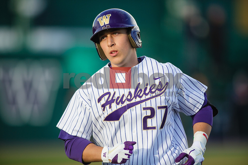 Michael Camporeale-University of Washington Huskies baseball team loses to Stanford University Cardinal at Huskies Baseball Stadium in Seattle Thursday, April 5, 2012. (Photos by Andy Rogers/Red Box Pictures)