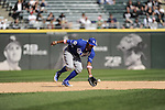 CHICAGO - MAY 13:  Irving Falu #19 of the Kansas City Royals fields against the Chicago White Sox at U.S. Cellular Field in Chicago, Illinois.  The Royals defeated the White Sox 9-1.  (Photo by Ron Vesely)   Subject:   Irving Falu
