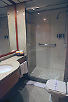 South America, Brazil, Amazon River. Bathroom of stateroom aboard the Iberostar Grand Amazon.
