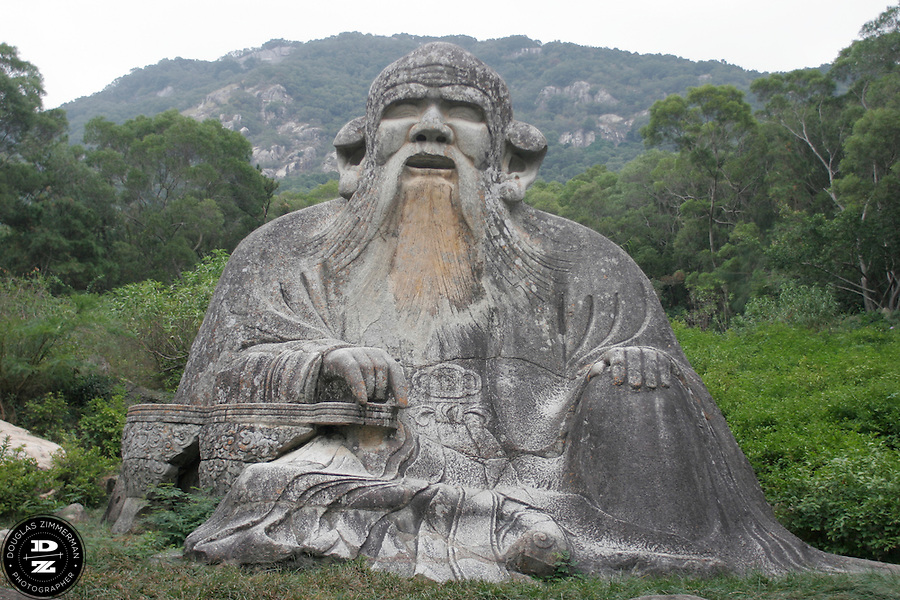 On  Mt. Qingyuan a rock statue of Lao-Tzu, an ancient Chinese philosopher is one of the largest tourist attractions in Quanzhou, China.  Photograph by Douglas ZImmerman