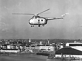 The H-19 is a United States Air Force (USAF) version of the Sikorsky S-55, an aircraft used by all United States military services in the 1950s and 1960s. It was the first of the Sikorsky helicopters with enough cabin space and lifting ability to allow satisfactory operation in troop transport or rescue roles. The engine is mounted in the nose, leaving the main cabin free for passengers or cargo. The prototype was first flown in November 1949, and in 1951 the USAF ordered production model H-19s (redesignated UH-19s in 1962). After receiving 50 H-19As, the USAF acquired 270 H-19Bs with increased engine power. Many were assigned to Air Rescue squadrons as SH-19s (later redesignated HH-19s). For rescue service, a 400 lb. capacity hoist was mounted above the door. The aircraft also could be equipped with an external sling capable of carrying 2,000 lbs. During the Korean War, H-19s were used extensively for rescue and medical evacuation work. Other missions included observation and liaison. The H-19 flew the first helicopter combat airlift missions during the Korean War while serving with the United States Marine Corps (USMC). .Credit: U.S. Air Force via CNP
