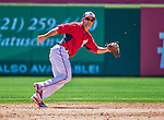 9 March 2014: Washington Nationals utility infielder Jamey Carroll in action during a Spring Training game against the St. Louis Cardinals at Space Coast Stadium in Viera, Florida. The Nationals defeated the Cardinals 11-1 in Grapefruit League play. Mandatory Credit: Ed Wolfstein Photo *** RAW (NEF) Image File Available ***