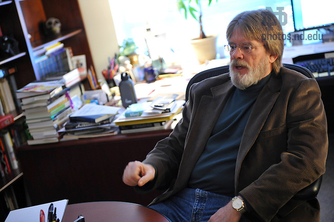 Prof. John Sherry in his office for Notre Dame Magazine coffee conversation..Photo by Matt Cashore/University of Notre Dame