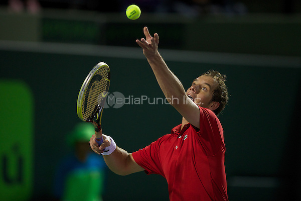 KEY BISCAYNE, FL - MARCH 29: Richard Gasquet (FRA) during match play in Day 11 of the Sony OpenTennis in Miami on March 29th, 2013 in Key Biscayne, FL. ( Photo by Chaz Niell/Media Punch Inc.)