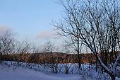 Winter scene o the farm