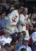 .13/07/2002.Sport - Cricket -NatWest Series Final- Lords.England vs India.St George's fans.