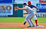 4 March 2009: New York Mets' outfielder Nick Evans in action playing first base during a Spring Training game against the Washington Nationals at Space Coast Stadium in Viera, Florida. The Nationals rallied to defeat the Mets 6-4 . Mandatory Photo Credit: Ed Wolfstein Photo