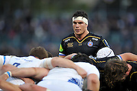 Francois Louw of Bath Rugby looks on. European Rugby Champions Cup match, between Bath Rugby and Leinster Rugby on November 21, 2015 at the Recreation Ground in Bath, England. Photo by: Patrick Khachfe / Onside Images