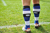 A general view of Bath Rugby coloured socks. Aviva Premiership match, between Bath Rugby and Wasps on March 4, 2017 at the Recreation Ground in Bath, England. Photo by: Patrick Khachfe / Onside Images