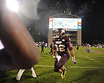 Mississippi State tight end Marcus Green (32) celebrates a 31-3 win over Ole Miss in Starkville, Miss. on Saturday, November 26, 2011.