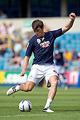 John Marquis, Millwall FC, pre match - Millwall vs Blackpool - NPower Championship Football at the New Den, London - 18/08/12 - MANDATORY CREDIT: Ray Lawrence/TGSPHOTO - Self billing applies where appropriate - 0845 094 6026 - contact@tgsphoto.co.uk - NO UNPAID USE.