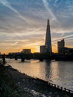 Sunrise over the Shard and River Thames this morning - 24 Nov 2014<br /> SME