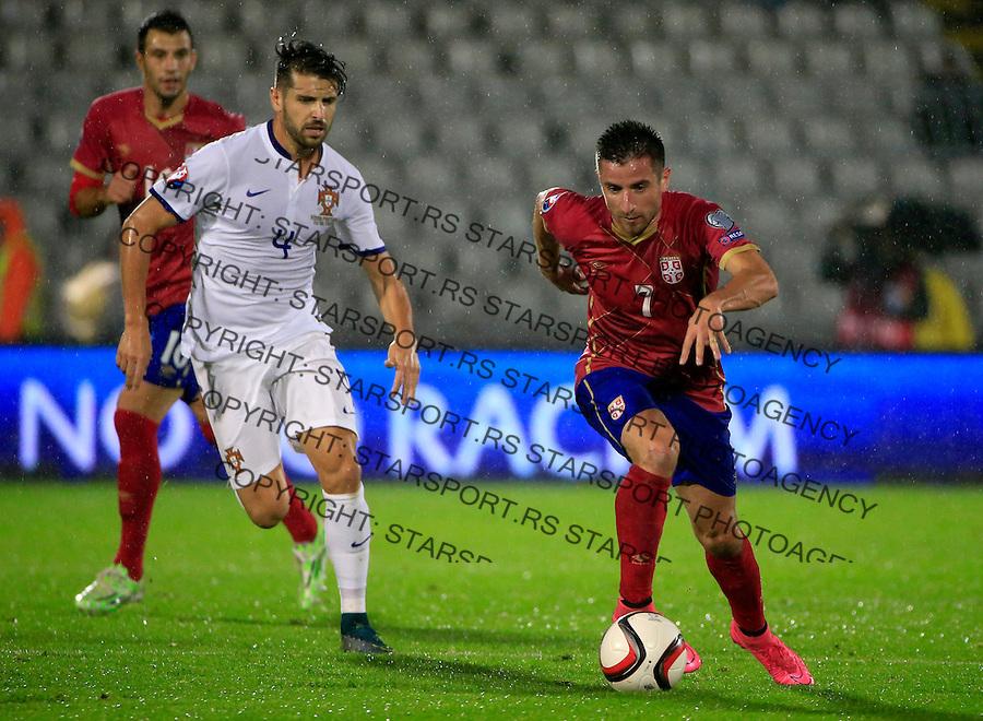 Fudbal, kvalifikacije za UEFA EURO 2016 qualifiers-Qualifying round - Group I<br /> Srbija v Portugal<br /> Zoran Tosic (R)<br /> Beograd, 11.10.2015.<br /> foto: Srdjan Stevanovic/Starsportphoto &copy;