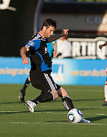 Bobby Burling of the Earthquakes in action during the game against the Red Bulls at Buck Shaw Stadium in Santa Clara, California.  San Jose Earthquakes defeated New York Red Bulls, 4-0.