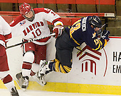 Eric Kroshus (Harvard - 10), Yuri Bouharevich (Quinnipiac - 13) - The visiting Quinnipiac University Bobcats defeated the Harvard University Crimson 3-1 on Wednesday, December 8, 2010, at Bright Hockey Center in Cambridge, Massachusetts.