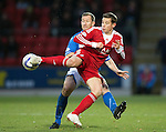 St Johnstone v Aberdeen.....07.12.13    SPFL<br /> Peter Pawlett and Frazer Wright<br /> Picture by Graeme Hart.<br /> Copyright Perthshire Picture Agency<br /> Tel: 01738 623350  Mobile: 07990 594431