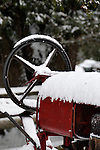 18 January 2008: An old farm tractor is covered with fresh snow at Shelburne Farms, in Shelburne, Vermont, USA...Mandatory Photo Credit: Ed Wolfstein Photo