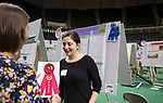 Kaili Boarman receives a second place ribbon along with her other first place win at the student expo on April 6, 2017.