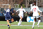 05 December 2010: Stanford's Alina Garciamendez (4). The Notre Dame University Fighting Irish defeated the Stanford University Cardinal 1-0 at WakeMed Stadium in Cary, North Carolina in the 2010 NCAA Women's College Cup Championship Game.