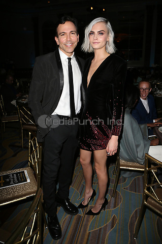 BEVERLY HILLS, CA - April 07: Dr. Bill Dorfman, Cara Delevingne, At 4th Annual unite4:humanity Gala_Inside At Madame Tussauds  In California on April 07, 2017. Credit: FS/MediaPunch