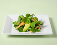 Arugula and Watercress Salad with Avocado and Carrots