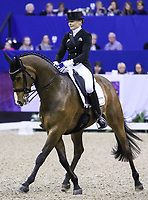 OMAHA, NEBRASKA - MAR 30: Marcela Krinke-Susmelj rides Smeyers Molberg during the FEI World Cup Dressage Final II at the CenturyLink Center on April 1, 2017 in Omaha, Nebraska. (Photo by Taylor Pence/Eclipse Sportswire/Getty Images)