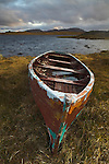 Abandoned boat on a Scottish loch