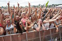 Crowd at Future Music Festival, Flemington Racecourse, Melbourne, 10 March 2013