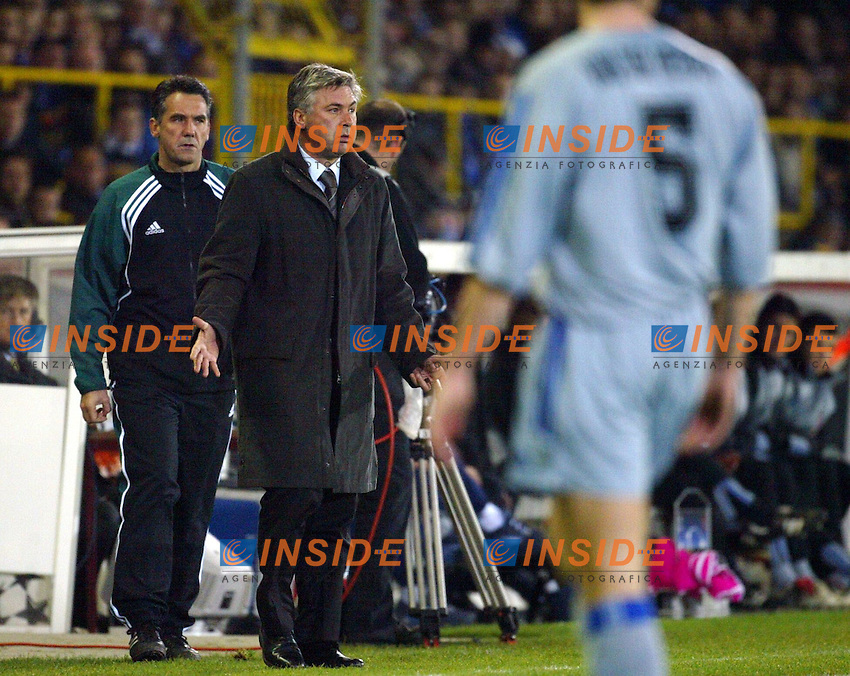 Fotball<br /> UEFA Champions League <br /> 04.11.2003<br /> Brugge v Milan<br /> Carlo Ancelotti<br /> Photo: Anders Hoven,Insidefoto/Digitalsport