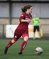 20170414 - Zulte , BELGIUM : Zulte Waregem's Athina Vercaemer  pictured during the soccer match between the women teams of Zulte Waregem and AA Gent Ladies , in the semi final matchday of the Belgian CUP - Beker van Belgie voor Vrouwen competition on Friday 14th April 2017 in Zulte .  PHOTO SPORTPIX.BE DIRK VUYLSTEKE