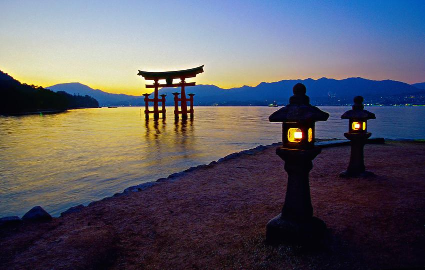 Otorii Gate, Miyajima (Shrine Island), near Hiroshima, Japan  Blaine Harring...