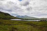 UK, Scotland,June 2012.Stark area on Rannoch Moor. Ski fields in the hills...Photo Kees Metselaar