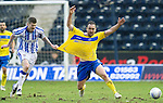 Kilmarnock v St Johnstone....03.03.12   SPL.Lee Croft osfouled by Michael Nelson.Picture by Graeme Hart..Copyright Perthshire Picture Agency.Tel: 01738 623350  Mobile: 07990 594431