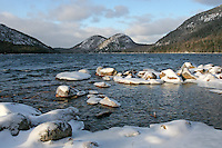 Winter at Jordan Pond & the Bubbles  #A16