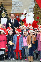 Prince Albert II Of Monaco attends the Christmas Gifts Distribution at Monaco Palace