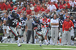 Ole Miss'  Nickolas Brassell (2) runs for 12 yards against Southern Illinois  at Vaught-Hemingway Stadium in Oxford, Miss. on Saturday, September 10, 2011.