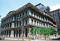 St. Louis: Old Post Office and Customs House. U.S. Supervising Architect Alfred B. Mullett. Completed in 1884.  Photo '78.