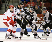 Charlie Coyle (BU - 3), Kyle MacKinnon (Providence - 15), Matt Bergland (Providence - 17) - The Boston University Terriers defeated the visiting Providence College Friars 2-1 on Saturday, October 23, 2010, at Agganis Arena in Boston, Massachusetts.
