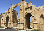 Jerash entance Adrian arch