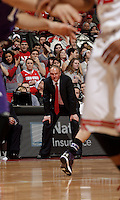 OSU head basketball coach Thad Matta watches the game in the second half of their game against the Northwestern Wildcats at the Value City Arena in Columbus, Ohio on February 19, 2014. (Columbus Dispatch photo by Brooke LaValley)